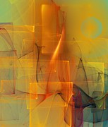 Digital Paintings Landscapes - Urban  Abstract 062411 by David Lane