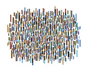 Colors Drawings Prints - Urban Abstract Print by Frank Tschakert