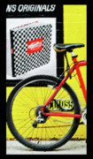 Bicycle Mixed Media Posters - Urban Bike Poster by AdSpice Studios