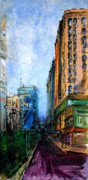 Intersection Paintings - Urban Colors in Springtime by Leayn Hochstine