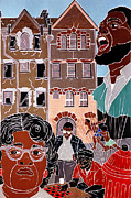 Activist Mixed Media Prints - Urban Community Print by Martha Rucker