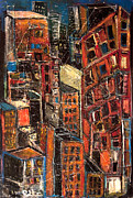 Jon Baldwin Art Paintings - Urban Congestion by Jon Baldwin  Art