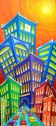 Lifestyle Painting Originals - Urban Crawl by Eva Folks