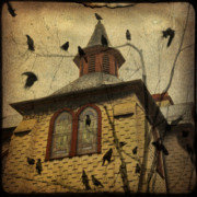 Starlings Digital Art Metal Prints - Urban Crows Metal Print by Gothicolors And Crows