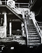 Abandoned  Drawings - Urban Decay by Cynthia Garcia