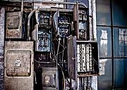 Industrial Art Framed Prints - Urban Decay  Fuse Box Framed Print by Edward Myers