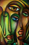 Couples Painting Framed Prints - Urban Expressions Framed Print by Michael Lang