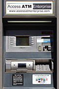 Bank Of America Framed Prints - Urban Fabric . Automatic Teller Machine . 7D14178 Framed Print by Wingsdomain Art and Photography