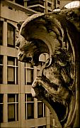 Gargoyle Lion Prints - Urban Gargoyle Print by Tamara Stoneburner