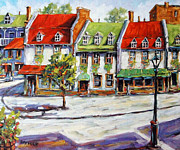 Original  By Artist Paintings - Urban Montreal Street by Prankearts by Richard T Pranke