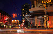 Tiff Bell Lightbox Prints - Urban Nightlife Print by Charline Xia