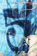 Nyc Graffiti Prints - Urban Numerology 5 Print by AdSpice Studios