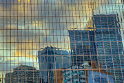 Financial Prints - Urban Reflections Print by Drew Castelhano