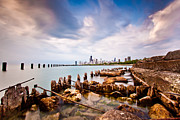 Lake Michigan Framed Prints - Urban Renewal Framed Print by Daniel Chen