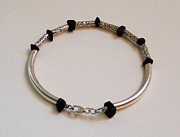 Sterling Silver Bracelet Art - Urban Tribal Wristband by Robin Copper