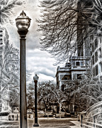 Urban Scenes Digital Art Prints - Urban Worlds Print by Danuta Bennett