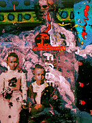 Nappy Head Art Mixed Media - Urbanization of Children by Robert Daniels