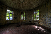 Haunted House Photo Posters - Urbex round room Poster by Nathan Wright