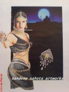 Hip Drawings - Urmila by Sandeep Kumar Sahota