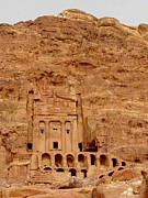 Ruin Photo Metal Prints - Urn Tomb, Petra Metal Print by Cute Kitten Images
