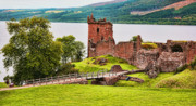 Chuck Kuhn Metal Prints - Urquhart  Castle Scotland Metal Print by Chuck Kuhn