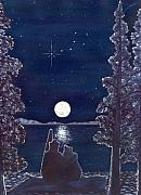 Night Sky Painting Framed Prints - Ursa Minor Framed Print by Catherine G McElroy