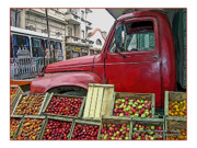 Apple Crates Posters - Uruguay Truck in Montevideo Poster by Joan  Minchak