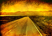 Desert Digital Art - US 50 - The Loneliest Road in America by Ellen Lacey