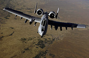 Gunship Prints - U.s. Air Force A-10 Thunderbolt Print by Stocktrek Images