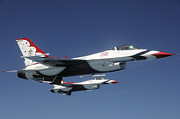 Two By Two Prints - U.s. Air Force F-16 Thunderbirds Print by Stocktrek Images