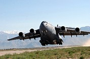Lifts Framed Prints - U.s. Air Force Globemaster Transport Framed Print by Everett