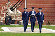 Artillery Photo Metal Prints - U.s. Air Force Honor Guard Members Metal Print by Stocktrek Images