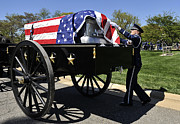 Fallen Soldier Photos - U.s. Air Force Honor Guard Straightens by Stocktrek Images