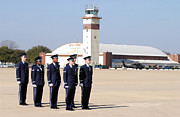 Attention Prints - U.s. Air Force Honor Guards Stand Print by Stocktrek Images