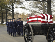Casket Photos - U.s. Air Force Honor Guardsmen Lead by Stocktrek Images