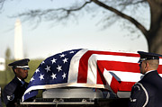 Fallen Soldier Photos - U.s. Air Force Honor Guardsmen Transfer by Stocktrek Images