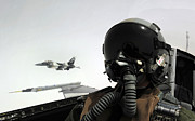 Jets Photos - U.s. Air Force Pilot Takes by Stocktrek Images