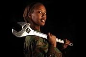 African-american Photos - Us Air Force Senior Airman A Female by Everett