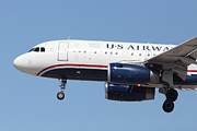 Jet Art - US Airways Jet Airplane  - 5D18394 by Wingsdomain Art and Photography