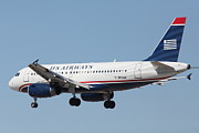 Airplane Prints - US Airways Jet Airplane  - 5D18396 Print by Wingsdomain Art and Photography