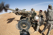 Artillery Photo Metal Prints - U.s. And Iraqi Artillerymen Train Metal Print by Stocktrek Images
