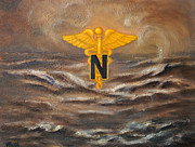 Operation Iraqi Freedom Paintings - U.S. Army Nurse Corps Desert Storm by Marlyn Boyd