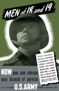 United States Government Prints - US Army Recruiting Poster Print by War Is Hell Store