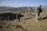 Operation Enduring Freedom Photos - U.s. Army Sergeant Leading His Team by Stocktrek Images
