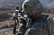 Operation Enduring Freedom Photos - U.s. Army Sniper Scans A Village by Stocktrek Images