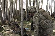 U.s. Army Soldier Communicates Possible Print by Stocktrek Images