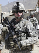 Body Armor Art - U.s. Army Soldier Conducts A Combat by Stocktrek Images