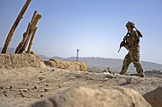 Qalat Posters - U.s. Army Soldier On A Foot Patrol Poster by Stocktrek Images
