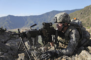 Waist Up Photos - U.s. Army Soldier Provides Overwatch by Stocktrek Images