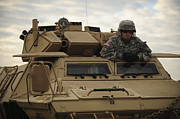 Hatch Art - U.s. Army Soldier Stands In The Drivers by Stocktrek Images